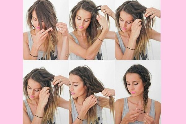 Tie it up in a messy side braid