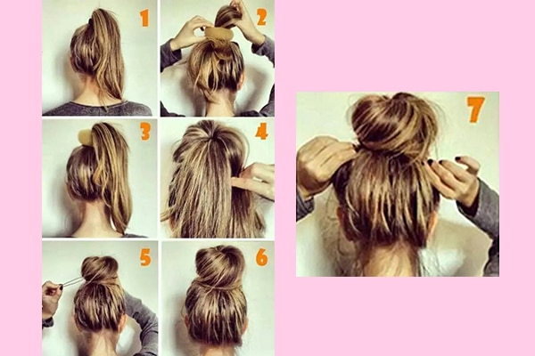 Hack # Gather it into a messy bun