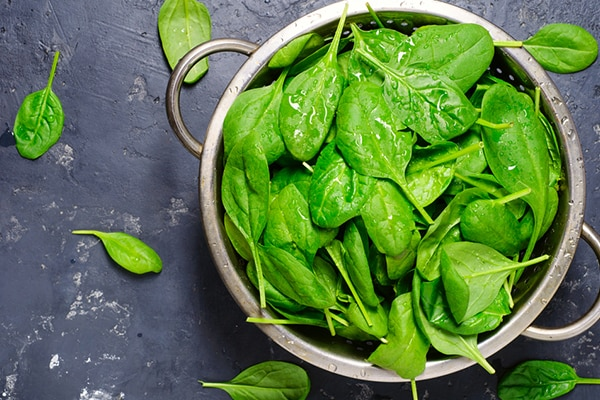 Spinach for iron