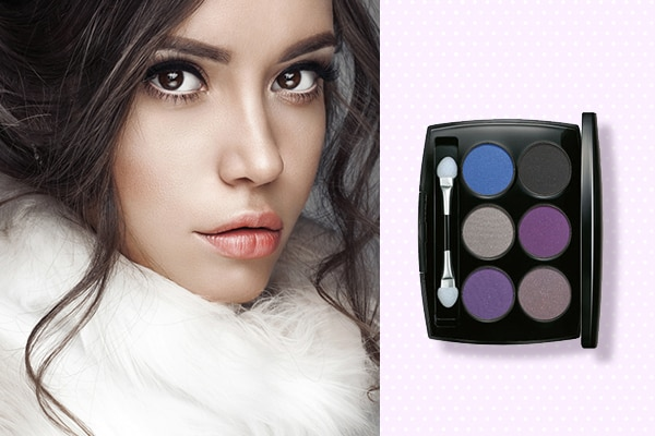 Neutralise your eyes using nude or white eyeshadows or liners