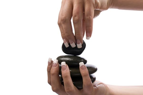 Hot stone manicure