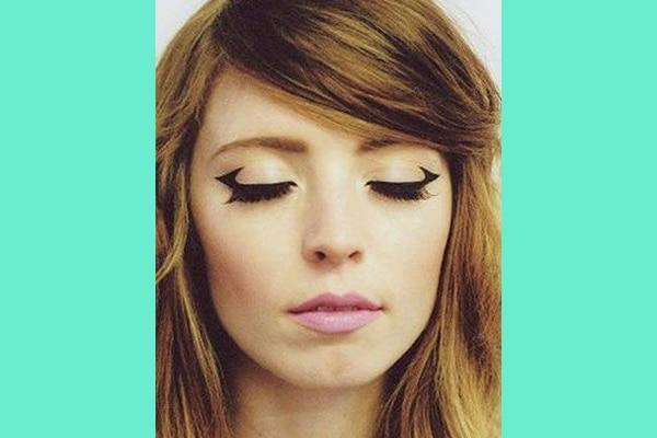 Incomplete wing eyeliner