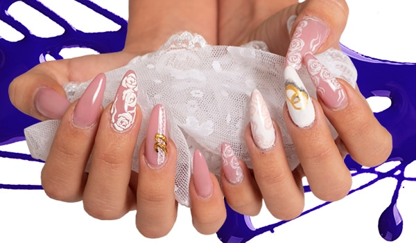 13 Types of Bridal Nail Art to Brighten up Your Special Day