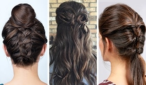 3 minutes, 3 hairstyles! Chic quick fix hairdos for new moms