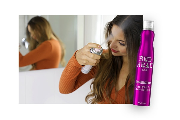 01. Use hair thickening products