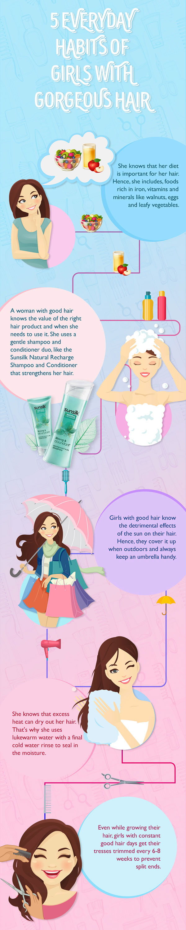 5 everyday habits of girls with gorgeous hair