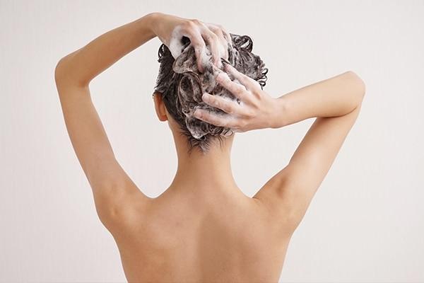 Wash hair less often