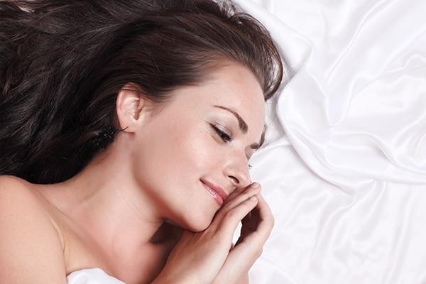 Sleep on a silk pillow cover