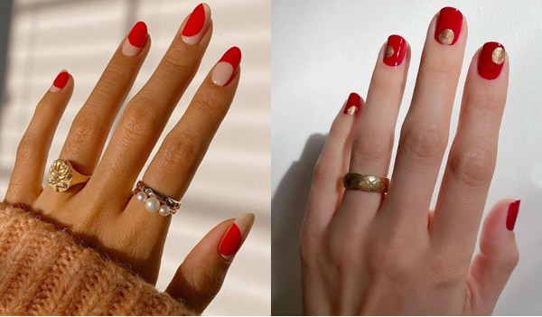 5 red nail art ideas to spice up your manicure
