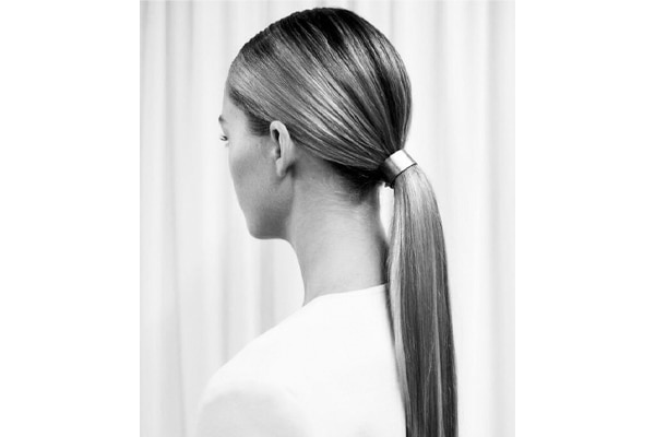 Sleek, long ponytails