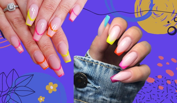 5 ways to recreate neon French nails— the latest manicure trend we're crushing over