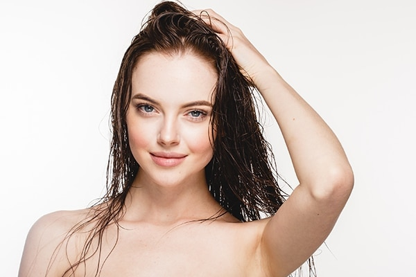 Damp hair is a strict no-no
