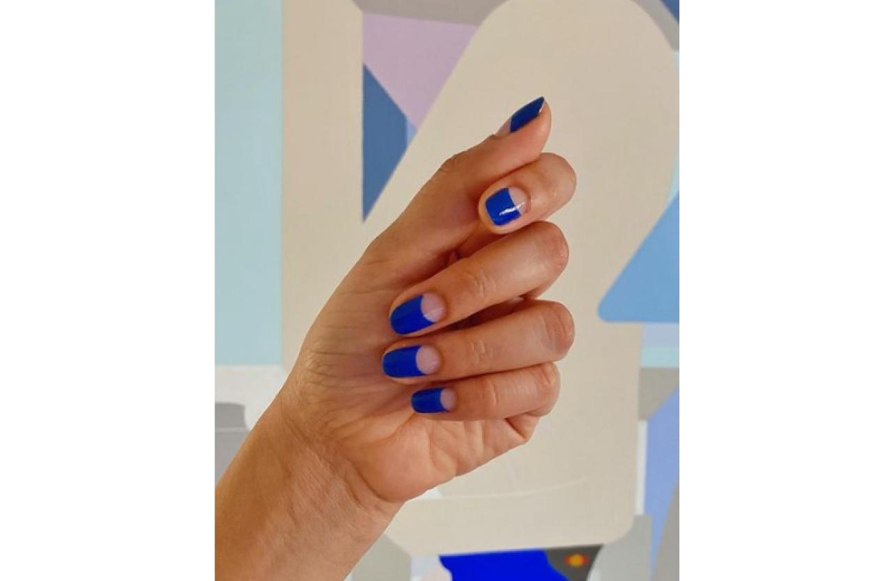 Crescent moon nails