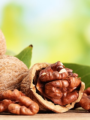 6 foods for fabulous hair walnuts 300x400