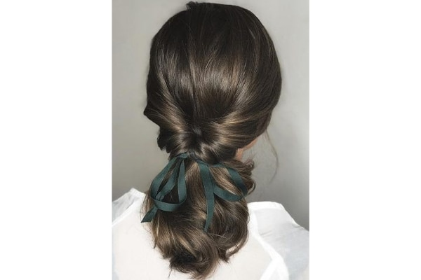 Bow benefit hairstyle