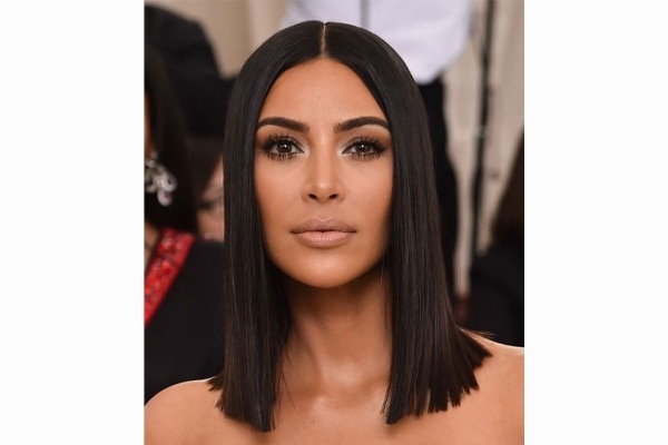 The Kim-K straight to the point hair
