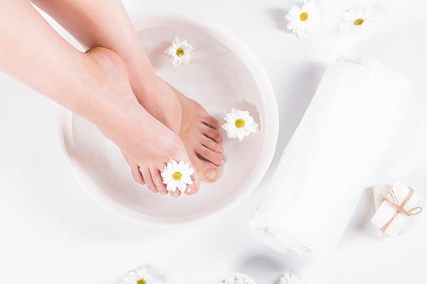 Step 02: Soak your feet