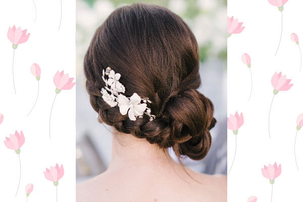 How To Add Flowers To Your Bun Hairstyle Bebeautiful