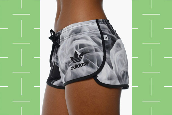 Adidas white smoke w shorts for workout