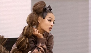 Ariana Grande's dramatic bubble ponytail and bow: get the look yourself