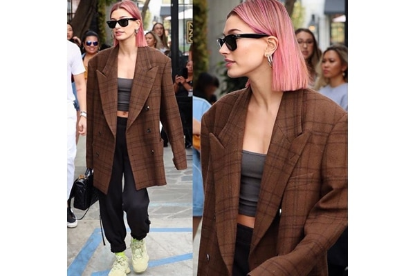 BB News Hailey Beiber pink hair