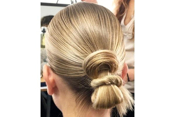Sleek looped bun