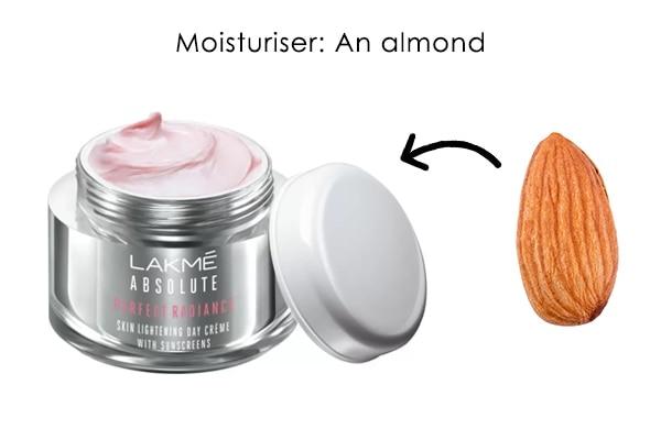 Moisturiser: An almond