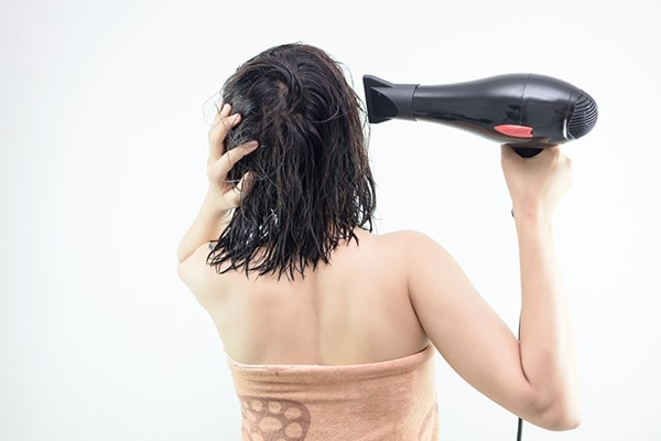 Hair dryers are a big no no for dry hair