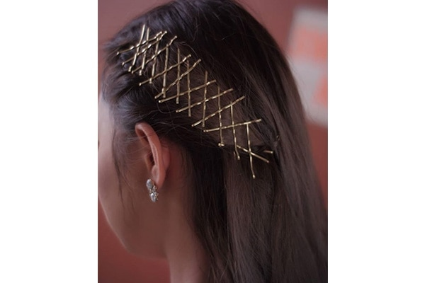 Bobby pin hair art