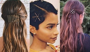 Bobby pin hair art is easy and costs less than ₹10!
