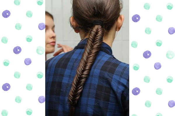 1. Braided ponytail