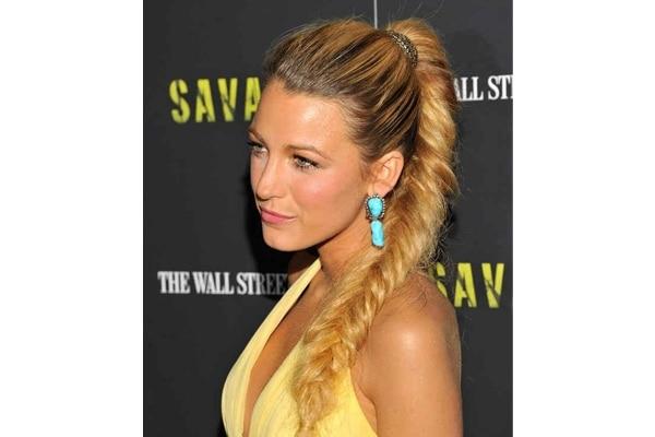 Fishtail braded ponytail