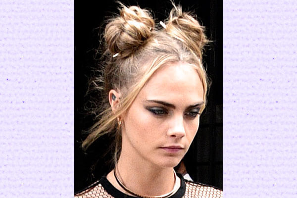 Celebrity Double Bun Hairstyle Inspo For Music Fest