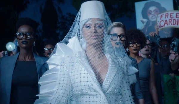 Cardi B drops stellar makeup looks in her new music video 'Press'