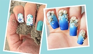 Celebrate World Oceans Day with these ocean inspired nails...