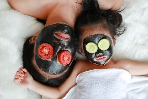 Activated charcoal treats acne