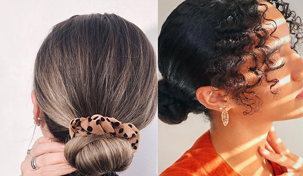 Cool ways to wear your hair in chignon buns while working from home