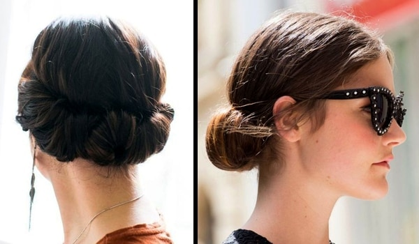 Croissant bun – Pull off this quirky hairstyle to go from desk to dinner in under 5 minutes