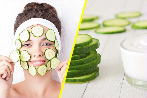 Cucumber and Sugar Mask for Hydrated Skin