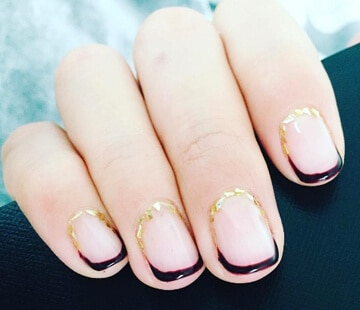 Cuticle nail art