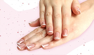 Get the perfect French manicure at home in 5 easy steps