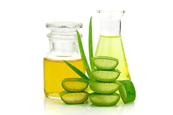Castor oil and aloe vera gel