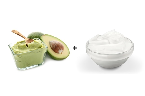 Avocado and yoghurt hair mask
