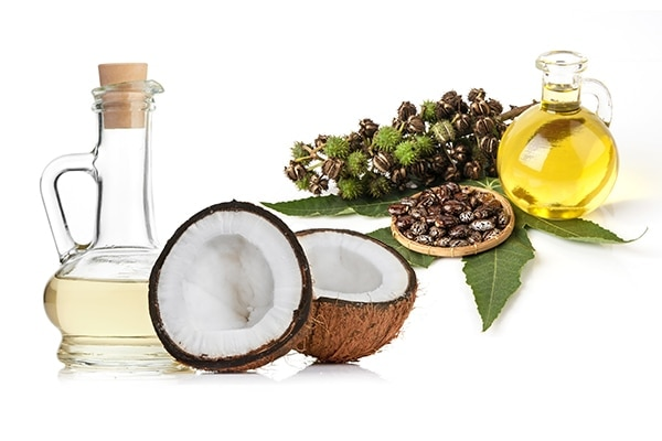Coconut oil and castor oil for dry hair