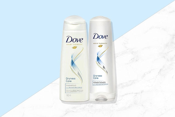 Dove Dryness for dry hair cleansers for your summer hair