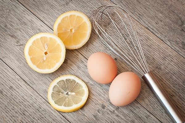 Egg and lemon hair mask