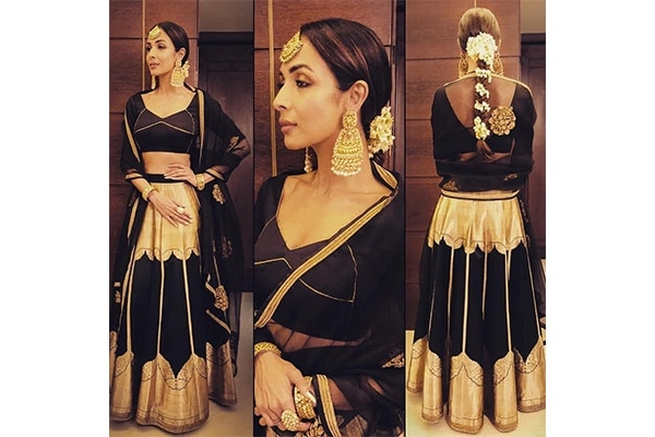 Malaika Arora's Braided Gajra  super easy and quick to do. Tie your hair and wrap around the gajra a couple of