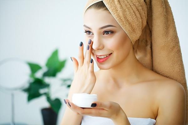 Nourish skin with a good moisturiser