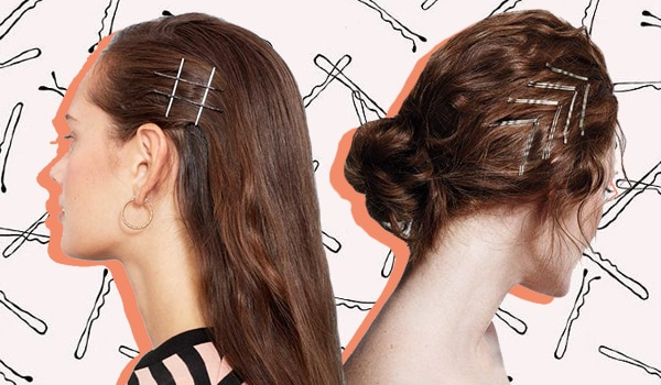 Exposed bobby pin hairstyles trend