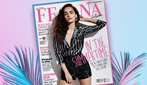 Manushi Chhillar's shimmery monochrome look on the cover of Femina